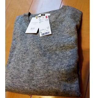 UNIQLO - 新品タグ付 ユニクロカシミヤセーター グレー L レディース