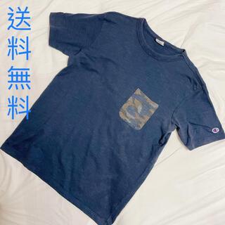 チャンピオン(Champion)のメンズ champion チャンピオン  Tシャツ ネイビー 半袖 ユニセックス(Tシャツ/カットソー(半袖/袖なし))