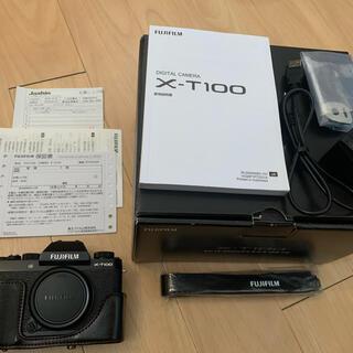 富士フイルム - フジフイルム FUJIFILM X-T100 ボディ BLACK [超美品]