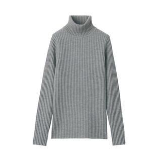MUJI (無印良品) - 無印良品 新品未使用 太リブ タートルネック洗えるセーター