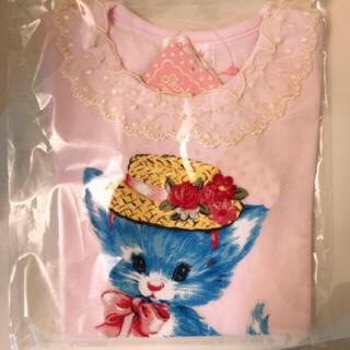 シャーリーテンプル(Shirley Temple)の新品 ねこカットソー 110cm(Tシャツ/カットソー)