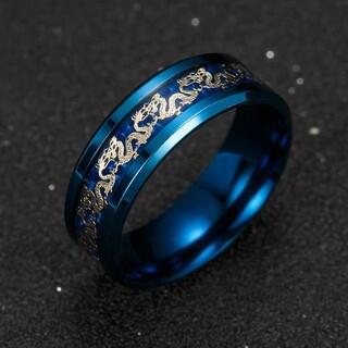 ブルー ステンレス リング 指輪 アクセサリー(リング(指輪))