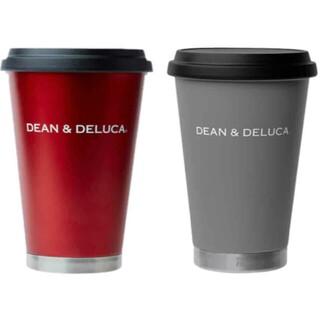 ディーンアンドデルーカ(DEAN & DELUCA)のDEAN&DELUCA タンブラー レッド チャコールグレー 2個セット(タンブラー)