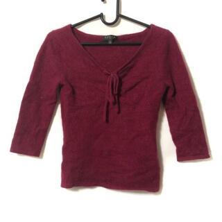 エポカ(EPOCA)のエポカ 七分袖セーター サイズ40 M レッド(ニット/セーター)