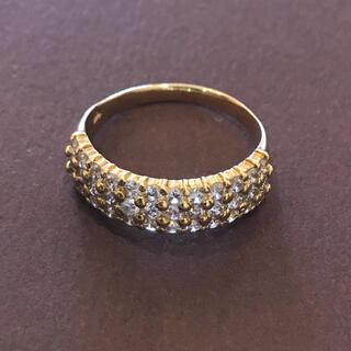 K18YG 1ct ダイヤモンド パヴェリング(リング(指輪))
