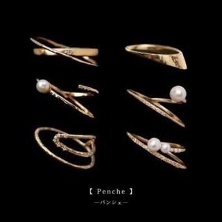 アガット(agete)の新品 siena  rose パンシェダイヤK10YGリング 9号 シエナロゼ (リング(指輪))