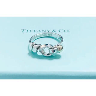 Tiffany & Co. - レア ティファニー フック&アイ コンビ sv925  k18 リング 正規品