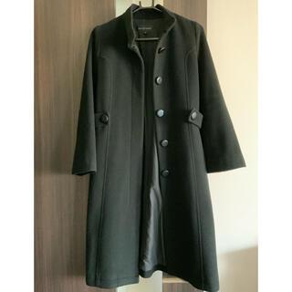 JILLSTUART - ジルスチュアート 襟なし黒ウールコート Jill Stuart