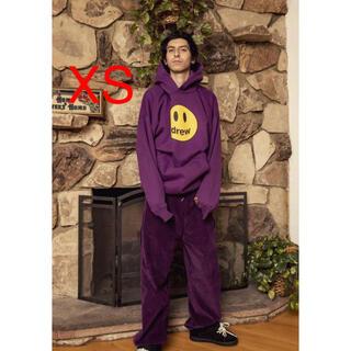 シュプリーム(Supreme)のdrew house mascot hoodie 紫 XS(パーカー)