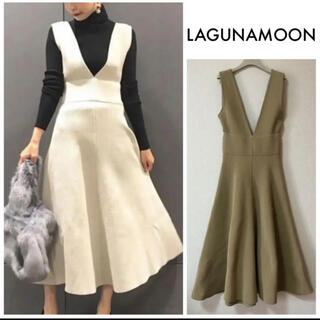 LagunaMoon - LagunaMoon ニットジャンパースカート ワンピース S