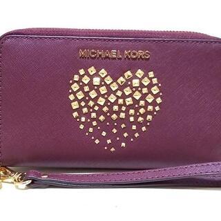 マイケルコース(Michael Kors)のマイケルコース 財布 ボルドー×ゴールド(財布)