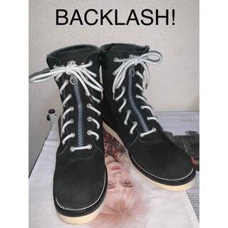 イサムカタヤマバックラッシュ(ISAMUKATAYAMA BACKLASH)のBACKLASH ジャパンカーフスエードファイヤーマンブーツ(ブーツ)