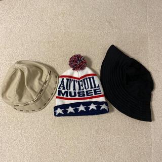 ニューヨーカー(NEWYORKER)のニット帽 ハンチング ハット 3点セット(ニット帽/ビーニー)