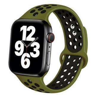 Apple Watch スポーツ バンド 42/44mm カーキ/ブラック(ラバーベルト)
