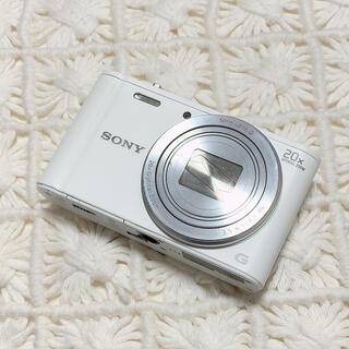 ソニー(SONY)のSONY美品デジタルスチルカメラDSC-WX300ソニー デジカメ白ホワイト(コンパクトデジタルカメラ)