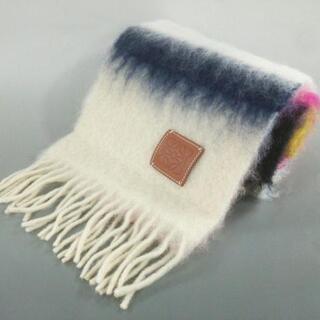 LOEWE - ロエベ マフラー - 白×ピンク×マルチ