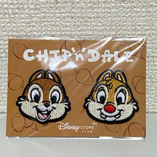 チップアンドデール(チップ&デール)のディズニー 刺繍ステッカー チップ デール(キャラクターグッズ)
