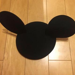 ワンスポ(one spo)のonespo ミッキーハット ミッキー帽 ブラック 黒 ディズニー(キャラクターグッズ)