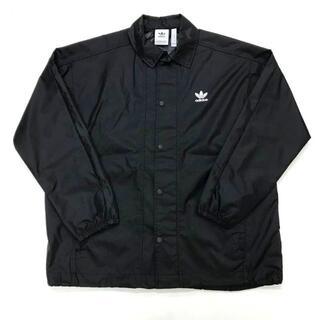 アディダス(adidas)のadidas Originals トレフォイル コーチジャケット 黒 L(ナイロンジャケット)