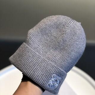 LOEWE - LOEWEロエベ 帽子 ニット帽 男女兼用 グレー
