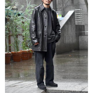 コモリ(COMOLI)の19aw COMOLI ラムレザー コート サイズ:2(レザージャケット)