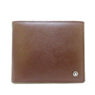 モンブラン(MONTBLANC)のモンブラン 札入れ ダークブラウン レザー(財布)