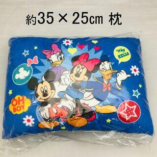 ディズニー(Disney)の新品 ディズニー パイル地低反発チップ枕 約35×25cm クッション ミッキー(枕)