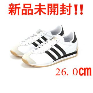 アディダス(adidas)の新品 アディダス カントリー OG 26cm ホワイト ブラック(スニーカー)