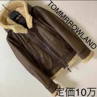 TOMORROWLAND - 定価10万◆トゥモローランド◆ムートンラムレザー B3 ジャケット フード 中綿