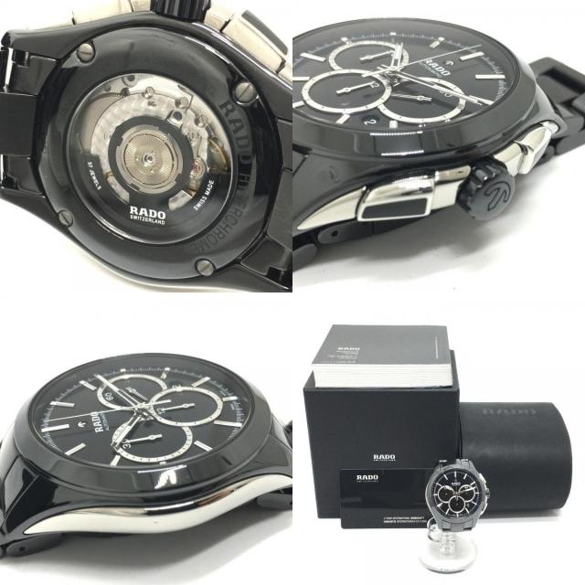 RADO(ラドー)のラドー ハイパークローム 腕時計 R32275152 ブラック メンズの時計(腕時計(アナログ))の商品写真