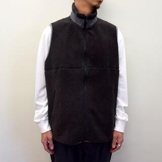 COMOLI - Graphpaper グラフペーパーWool Boa Zip-Up Vest