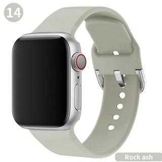 Apple Watch ソフト バンド 42/44mm ライトグレー(ラバーベルト)