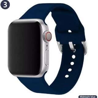 Apple Watch ソフト バンド 42/44mm ダークブルー(ラバーベルト)