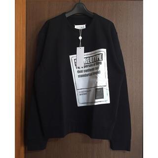 Maison Martin Margiela - 黒50新品 メゾン マルジェラ メンズ ステレオタイプ  スウェット ブラック