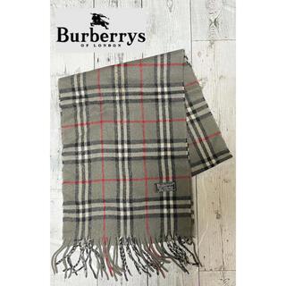 バーバリー(BURBERRY)のBurberrys バーバリー マフラー ラムズウール チェック グレー(マフラー/ショール)