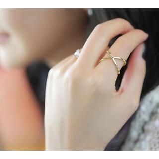 ゴールドクロスリング 指輪 13号 レディース オシャレ かわいい RIN02(リング(指輪))