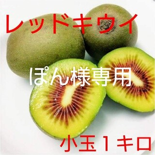 ぽん様専用 無農薬!小玉レッドキウイ1キロ(フルーツ)