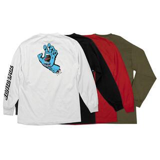 THRASHER - ロングスリーブTシャツ スクリーミングハンド ロンT 長袖 青い手 メンズ