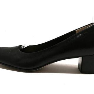 マーガレットハウエル(MARGARET HOWELL)のマーガレットハウエル パンプス 24美品  黒(ハイヒール/パンプス)
