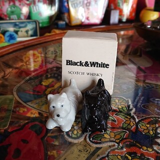 昭和レトロ Black&White 置物(置物)