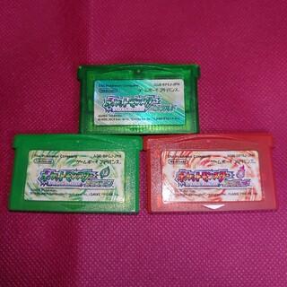 ニンテンドウ(任天堂)のポケットモンスターエメラルド リーフグリーン ファイヤーレッド(携帯用ゲームソフト)