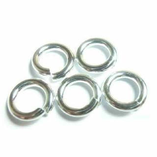 丸カン 10mm silver925 メンズ 横向き防止 チェーン 接続 に(ネックレス)