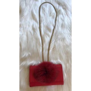 ダブルスタンダードクロージング(DOUBLE STANDARD CLOTHING)のダブルスタンダード☆赤ファーポシェット財布(財布)