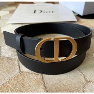 Christian Dior - Christian Dior ブラック ベルト 3cm