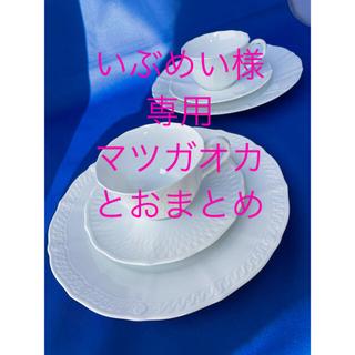 ノリタケ(Noritake)の【美品】ノリタケ シェールブラン カップ&ソーサー 2客 プレート 2枚 トリオ(食器)
