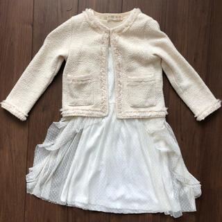 ザラキッズ(ZARA KIDS)のZARA 入学式 フォーマル ジャケット&シフォンワンピース(ドレス/フォーマル)