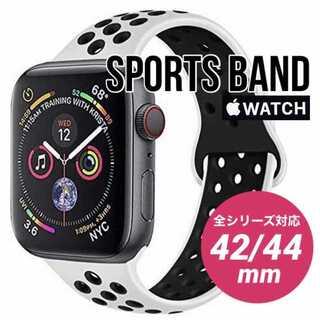 Apple Watch 交換 バンド アップルウォッチ シリコン 42/44mm(ラバーベルト)