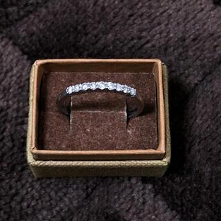 ダイヤモンド0.2ct プラチナのエタニティリング pt900 0.20ct(リング(指輪))