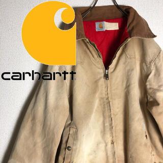 カーハート(carhartt)の古着 90s カーハート ジップ ワーク ダックジャケット ベージュ(ブルゾン)