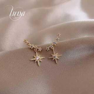 STAR JEWELRY - 新品♪ star☆zirronia pierce☆s925 ポスト☆GOLD